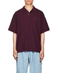 Gosha Rubchinskiy - Embroidered Cotton Piqué Polo Shirt - Lyst