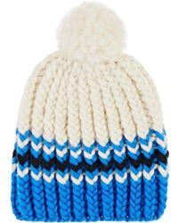 Wommelsdorff Marte Striped Chunky Wool Beanie