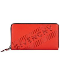 Givenchy - Emblem Leather Zip-around Wallet - Lyst