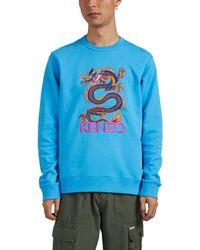 KENZO - Dragon-embroidered Cotton Sweatshirt - Lyst