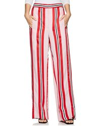 Cedric Charlier - Candy Striped Straight-leg Trousers - Lyst