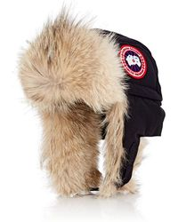 Canada Goose - Fur-trimmed Down-filled Aviator Hat - Lyst