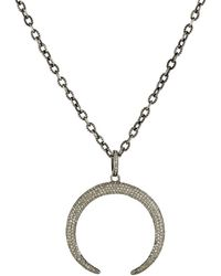 Feathered Soul - Arched Moon Pendant Necklace - Lyst
