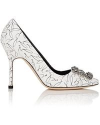Manolo Blahnik - Hangisi 10th-anniversary love Pumps - Lyst