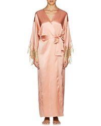 Gilda & Pearl | Gina Silk Satin Long Robe | Lyst