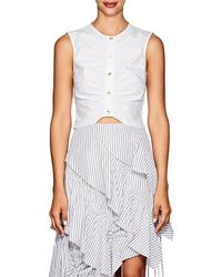 10 Crosby Derek Lam - Ruched Cotton Crop Top - Lyst
