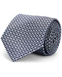 Brioni - Mini-square-grid Silk Satin Necktie - Lyst