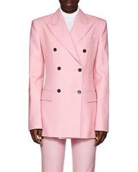 CALVIN KLEIN 205W39NYC - Checked Wool Double-breasted Blazer - Lyst