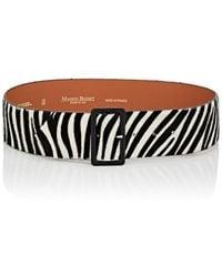 Maison Boinet - Zebra-striped Calf Hair Belt - Lyst