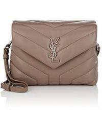 Saint Laurent - Monogram Loulou Toy Small Leather Shoulder Bag - Lyst ec86ce1ef991e