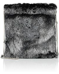 The Row - Medicine Fur Large Pouch - Lyst