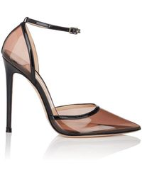 Gianvito Rossi - Sabin Pvc & Patent Leather Ankle-strap Court Shoes - Lyst