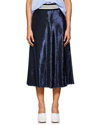 Robert Rodriguez - Striped-waist Sequin Midi-skirt - Lyst