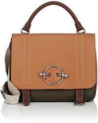 JW Anderson - Disc Leather & Suede Satchel - Lyst