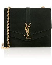 Saint Laurent - Monogram Montaigne Medium Suede Chain Bag - Lyst