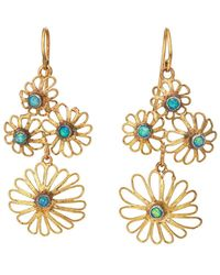 Judy Geib - Flowery Double-drop Earrings - Lyst