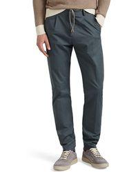 Eleventy Cotton Twill Drawstring Slim Pants