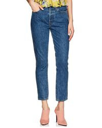 RE/DONE - Double Needle Crop Jeans - Lyst