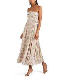 J. Mendel - Silk-blend Plissé Cocktail Dress - Lyst