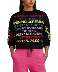 Opening Ceremony - Destination-intarsia Cotton-blend Sweater - Lyst