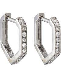Eva Fehren - Hexagon Hoop Earrings - Lyst