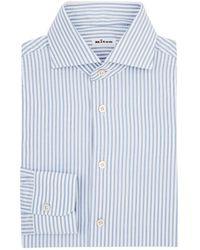 Kiton - Striped Cotton Dress Shirt - Lyst
