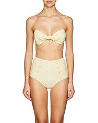 Lisa Marie Fernandez - Poppy Seersucker High-waist Bikini - Lyst