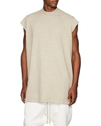 Rick Owens Drkshdw - Slub Cotton Short-sleeve Sweatshirt - Lyst