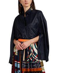 Kolor - cape Oversized Tech-poplin Blouse - Lyst