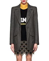 Fendi - Checked Wool-blend One-button Blazer - Lyst