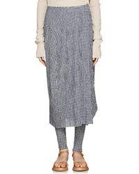 Jil Sander Gingham Bubble Skirt - Blue