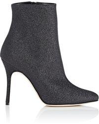 Manolo Blahnik - Insopo Glitter Ankle Boots - Lyst
