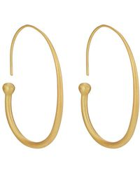 Eli Halili - Tapered French Hoop Earrings - Lyst