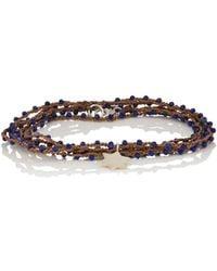 Feathered Soul - Lapis Lazuli Star Wrap Bracelet - Lyst