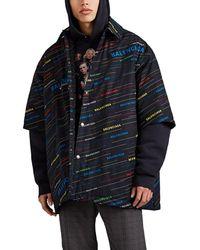 Balenciaga - Logo Padded Cotton Oversized Shirt Jacket - Lyst