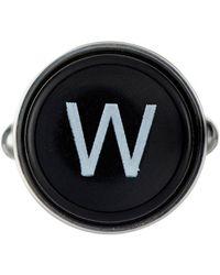 Barneys New York - Initial Typewriter Key Cufflink - Lyst