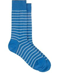 Barneys New York - Double-striped Cotton-blend Mid - Lyst