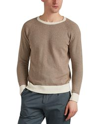 Eleventy - Contrast-trimmed Cotton-blend Bouclé Shirt - Lyst