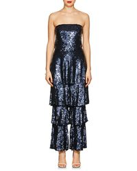 OSMAN - Tamina Sequined Strapless Jumpsuit - Lyst