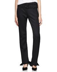 Prada - Neoprene Straight Pants - Lyst