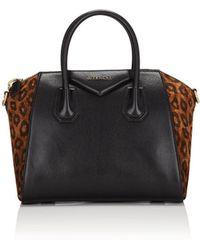 Givenchy - Antigona Small Leopard Satchel Bag - Lyst
