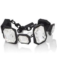 Ambush - Crystal-embellished Geometric-link Bracelet - Lyst