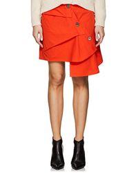 Ji Oh - Asymmetric Cotton Poplin Skirt - Lyst