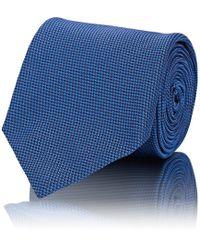 Brioni - Mini-chevron-weave Textured Silk Necktie - Lyst