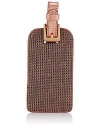 Barneys New York - Mesh & Leather Luggage Tag - Lyst