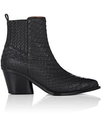 Sartore - Python Ankle Boots - Lyst