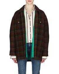 Isabel Marant - Harvey Plaid Wool Flannel Coat - Lyst