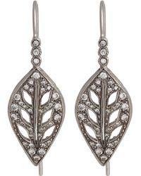 Cathy Waterman - Leaf Drop Earrings - Lyst