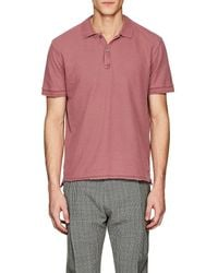 ATM - Faded Cotton Polo Shirt - Lyst