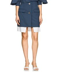 Ji Oh - Layered Stretch-twill Skirt - Lyst